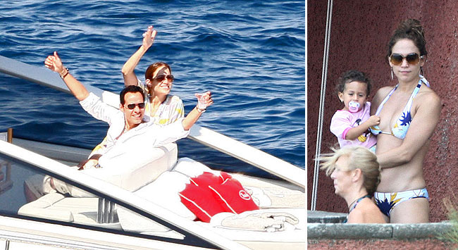 jennifer lopez and family vacation in italy