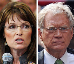 Sarah Palin and David Letterman feud