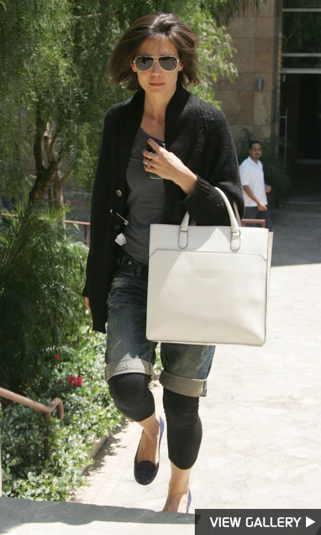 Katie Holmes leaving dance studio