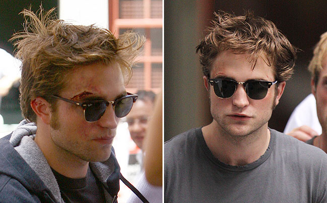 robert pattinson beat up on the set of remember me