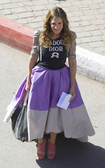 Sarah Jessica Parker Films 'Sex and the City 2' in Morocco