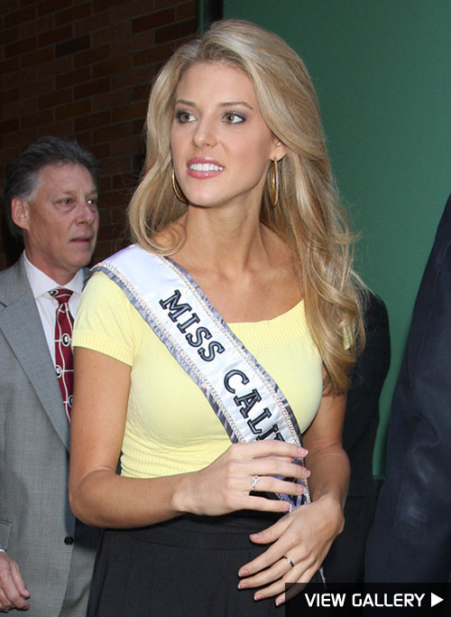 Miss California Carrie Prejean appears on Good Morning America