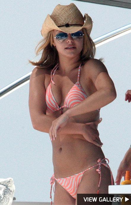 Hayden Panettiere in a bikini in France