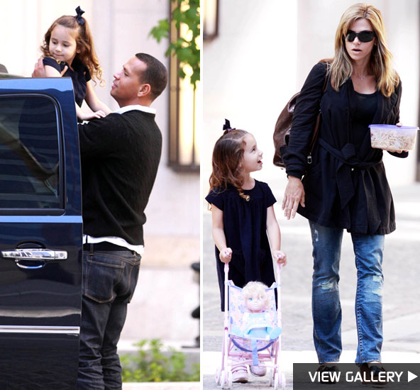 Alex Rodriguez with daughter Natasha