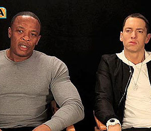Dr. Dre and Eminem Break Down 'Doctor' Video with 'Extra'