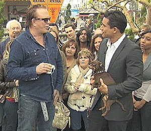 Mickey Rourke Drops by The Grove