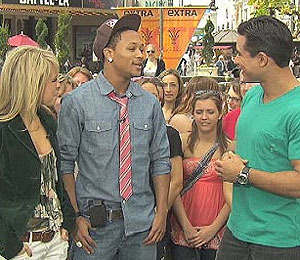 At The Grove: Romeo and 'Dancing' Partner Chelsie