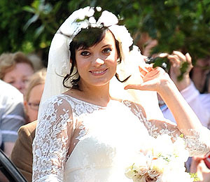 Lily Allen is All Smiles on Her Wedding Day