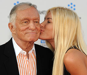 Harris Blabs About Sex Life, Hef Calls Her a Liar