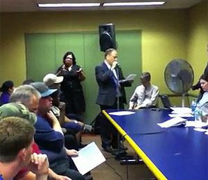 Video! Stern Sidekick Benjy Bronk Townhall Speech