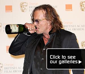 Rourke 'Wrestles' BAFTA Win -- And Celebrates!