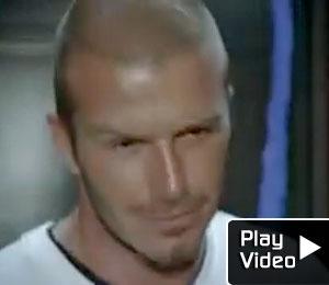 Beckham Kicks It at Adidas House Party