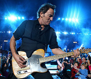 Mrs. Springsteen Stands by Her Man