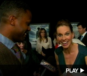 Hilary Swank's Spirits Soar after 'Extra' Gift