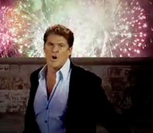 David Hasselhoff Cries While Juggling Puppies