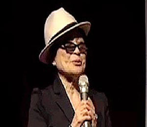 Yoko Ono Appears at 'Nowhere Boy' Premiere