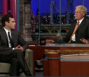 Joaquin Phoenix Apologizes to Letterman