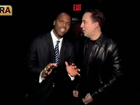 'Extra' Raw! 'Ghost' Ridin' with Nicolas Cage
