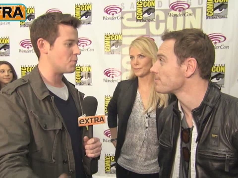 Charlize Theron and Michael Fassbender at WonderCon