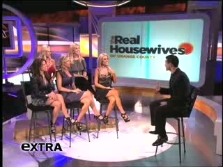 'Real Housewives of Orange County' Visit 'Extra'