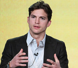Ashton Kutcher Talks 'Men,' Wears Wedding Ring