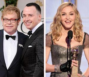 Elton John's Husband Downplays FB Comments on Madonna