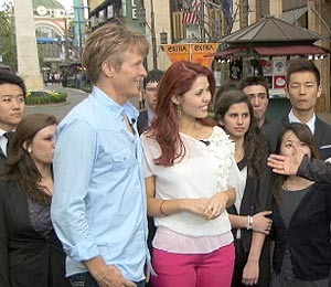'Extra' Raw: 'DWTS' Contestant Jack Wagner at The Grove