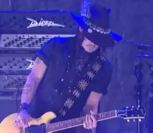Video! Johnny Depp Wails on the Guitar