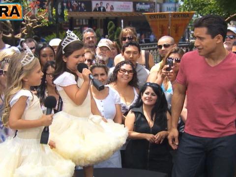 Sophia Grace & Rosie Serenade Mario Lopez at The Grove!