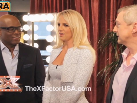 Video! Britney Spears Backstage on 'X-Factor'