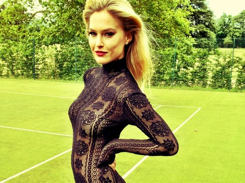 Pic! Bar Refaeli in Black Lace Bodysuit