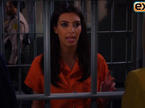 Video! Kim Kardashian Locked Up Behind Bars