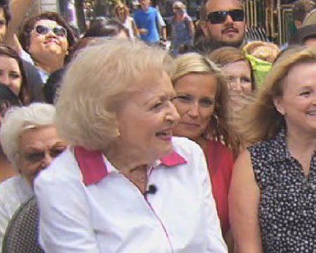 At The Grove! Betty White on Her Celebrity Crush