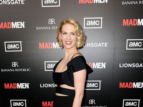 January Jones Steps Out with New Man