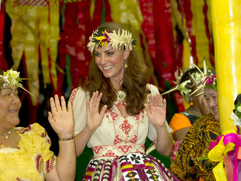 Kate Middleton Dances in Grass Skirt, Topless Pics Nixed in France
