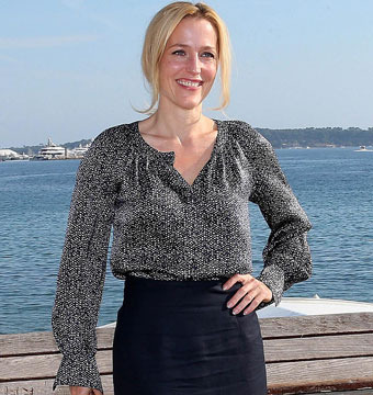 Gillian Anderson attends MipCom 2012 in Cannes to promote her new BBC2 show,…