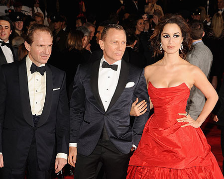 Ralph Fiennes, Daniel Craig and Berenice Marlohe attended the London premiere…