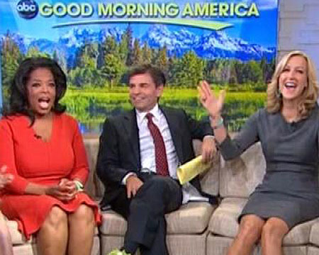 Oprah and 'GMA' Gang Support Robin Roberts... in Fuzzy Green Slippers