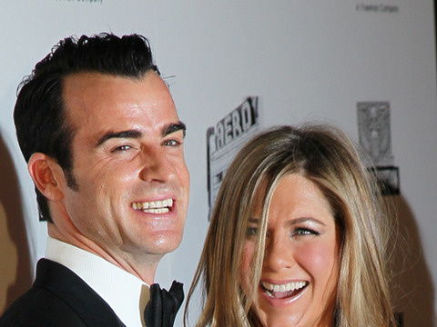 Justin Theroux and Jennifer Aniston attended the American Cinematheque Award…