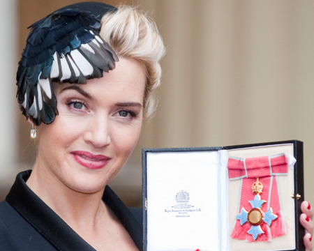 Queen Elizabeth II named Kate Winslet a Commander of the Order of the British…