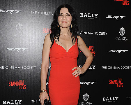 Lady in Red! Julianna Margulies at the 'Stand Up Guys' Premiere