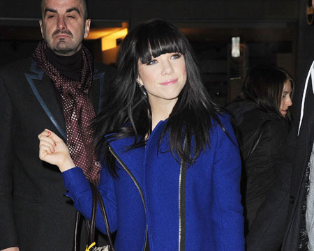 Carly Rae Jepsen was snapped at the BBC Radio One studios in London on Tuesday.