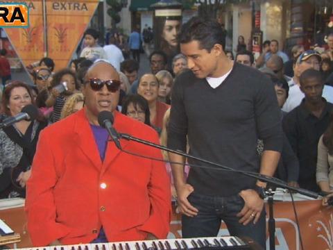 Video! Stevie Wonder Duets with 'X-Factor's' Vino Alan