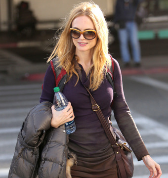 Heather Graham was spotted at LAX on Saturday.
