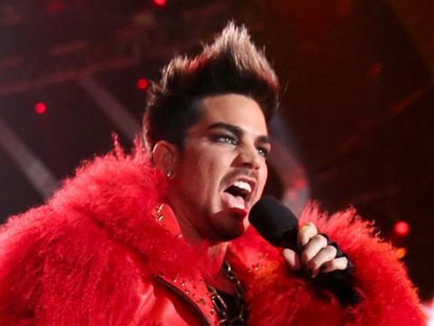 "Adam Lambert hosted the ""VH1 Divas"" show in L.A. on Sunday."
