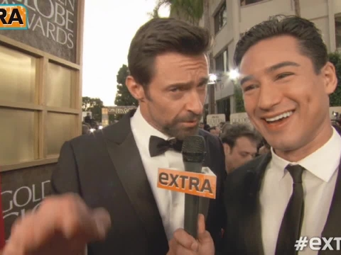 Video! 'Extra' on the Golden Globes Red Carpet