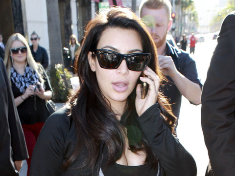 Report: Divorce Drama Stressing Pregnant Kim Kardashian