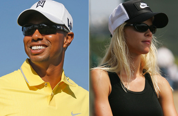 tiger woods and elin nordegren photographed together in