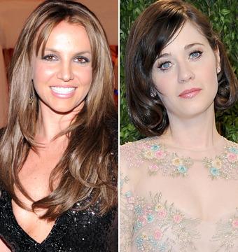Oscars: Britney Spears Goes Brunette, Zooey Deschanel Debuts Short Hair