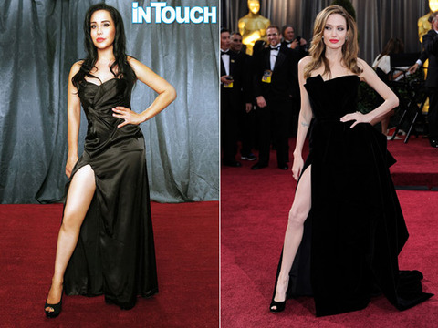 Octomom's Bizarre Photo Tribute to Angelina Jolie -- Is She…